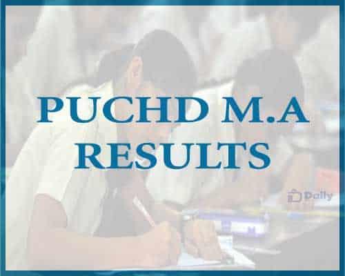 PUCHD M.A Results 2021