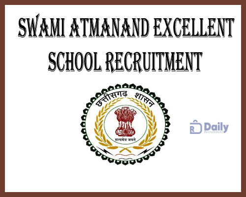Swami Atmanand Excellent School Recruitment 2021