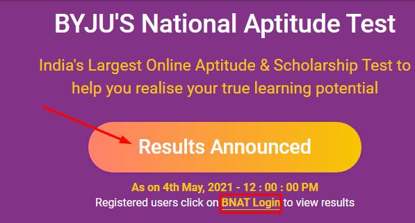 BNAT Result 2021