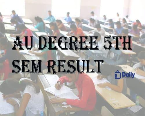 AU Degree 5th Sem results 2021