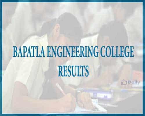 Bapatla Engineering College results 2021