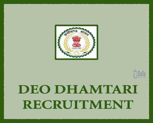 DEO Dhamtari Recruitment