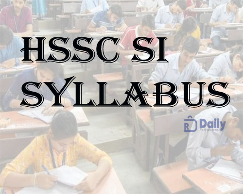 HSSC SI Syllabus 2021