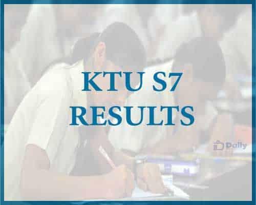 KTU S7 Results 2021