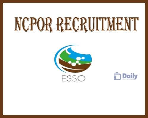 NCPOR Recruitment 2021