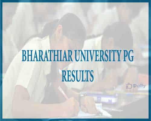 Bharathiar University PG Results 2021