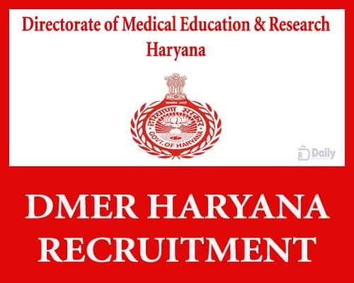 DMER Haryana Recruitment