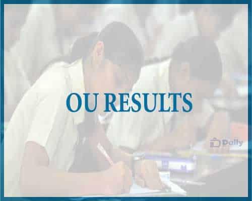 OU Degree 6th Sem Results 2021