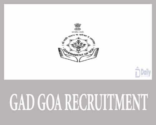 GAD Goa Recruitment 2021