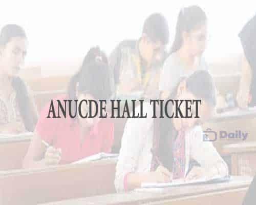 ANUCDE Hall Ticket 2021