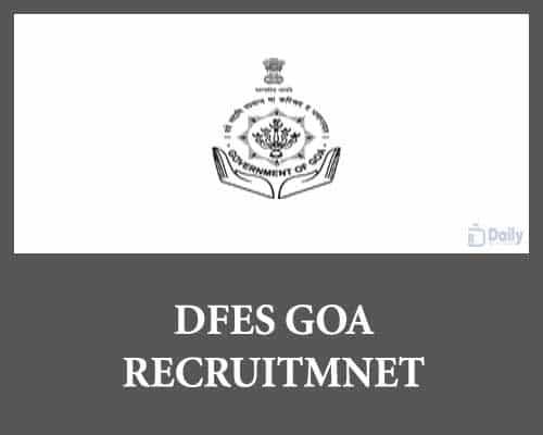 DFES Goa Recruitment